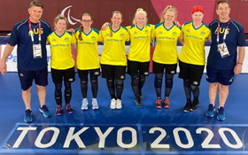 Image of Goalball Streamed from Tokyo! Celebrating success, teamwork and inclusion.
