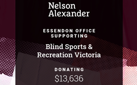 Image of We are excited to receive a donation of $13,636 from Nelson Alexander.