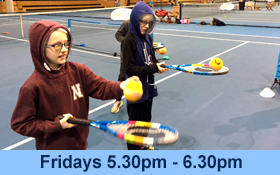 Image of Blind Tennis for Juniors aged 5-15 at the National Tennis Centre. Join in.