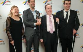 Image of Blind Tennis Program Wins Award