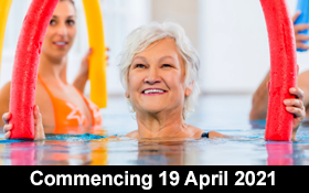 Image of Aqua Fit for Adults. Mondays 2.30 - 3.15pm. Broadmeadows. Join us.
