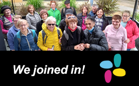 Image of Lysterfield Lake Park group walk. We joined in!