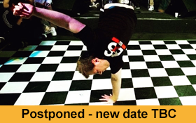 Image of Postponed. Learn some spins and freezes at the Breakdance Workshop run by Karl Jacobs.