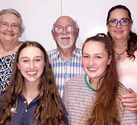image of Three generations of volunteers